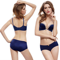 Wholesale Women sexy underwear seamless bra and panty set push up bra set sexy B cup seamless bra