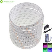 Wholesale 5M RGB LED W x SMD LED Waterproof IP68 Flexible LED Light Strips AU EU Power Adapter Key Key Key Controller