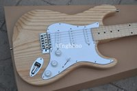 ash nature - ST New Arrival Top quality Ash wood nature wood Electric Guitar In Stock