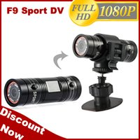 Wholesale 2014 New Aluminum Mini F9 MP HD P H Waterproof Sports DV Camera Camcorder Car DVR Outdoor Bike Helmet AT F9 g D1226