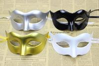 halloween supplies - Venetian Carnival Masque Masquerade Ball Mask Festive Party Supplies Half face Plain Colors Solid Color Plastic Masks drop shipping