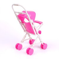 american doll furniture - New Pink Assembly Baby Stroller Trolley Nursery Furniture Toy for American girl Doll Reborn Baby Kit DRES