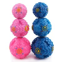 Wholesale 2015 new pet chew toy candy colors shrieking ball pet ball pet toy dog leakage food ball toy sound toys sound ball