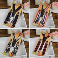 Wholesale Mix Pattern Kids Boys Girls Fashion Suspender Belt Children Elastic And Clips Pants Folder Dots Stripe Leopard Plaid Flag L020