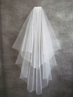 Elbow Length beautiful fashion net - White Ivory Short Two Layers With Comb Bridal Veils Wedding Accessories W20140102 Cheap Top Selling Fashion Beautiful Hot