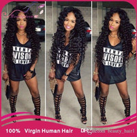 eurasian hair - 5A Eurasian Virgin Hair luxy hair cheap virgin eurasian deep wave curly Human Hair Weave bundles bohemian curl weave