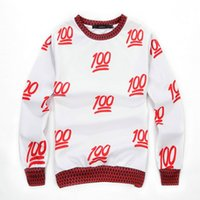 2014 Camisolas novas da cópia da contagem 3D do EMOJI 100 do inverno, homens / mulheres bonitos PulloverHoodies, camisola ocasional dos desenhos animados 100 por cento