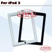 Wholesale 50 Screen Digitizer for iPad complete with home button and adhesive touch screen glass assembly