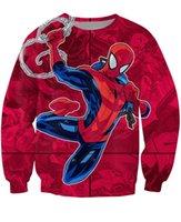 amazing spiderman comics - The Amazing Spiderman Crewneck Sweatshirt the Marvel comic book Cartoon Characters d Print Jumper Women Men Sport Tops Outfits