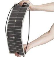 Wholesale 30pcs W Mini sunpower cell semi flexible thin solar panel front side waterproof junction box