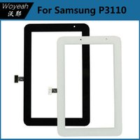 Wholesale Samsung Galaxy Tab P3110 with Touch Screen Digitizer black white Touch Screen Digitizer Replacement Part Glass Panel Lens