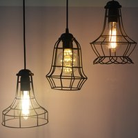 industrial material - 2016 modern retro Vintage industrial style chandelier with iron material led Edison light bulb strin pendant for comfortable