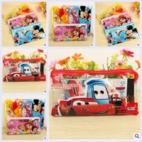 Wholesale mutil colors mickey princess kt car kid boys girls purse penci bag sharpener eraser ruler stickers christmas birthday gift topB1143 set