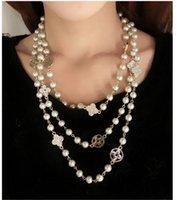 Perle collier pendentif Prix-2015 Naturel Lisse D'Eau Douce Collier De Perles Pour Les Femmes Pendentif En Agate Collier En Véritables Perles Naturelles Bijoux 666