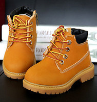 Wholesale Children Martin Boots Thicken Inside Casual Kids Warm Boots Round Toe Lace Up Zipper Joker Ankle Boots For Boys And Girls Age K1185