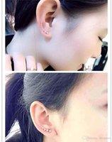Pendientes de perlas de plata de 1 par de Bling del oro plateado estrellas Crystal gancho del oído para las mujeres de la muchacha del perno prisionero del clip en los pendientes tornillo de nuevo CPA291 joyería