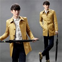 agent k - Fall Fall winter wear men s new agent k fashion show and boutique cotton single breasted trench coat men s coat