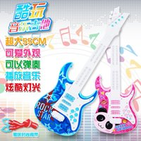Wholesale Children can play guitar music multifunctional baby toy puzzle toy electric guitar early light