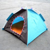 Wholesale High Quality Drop new arrival pet dog cat colorful outdoor tent dog house portable dog bed random color sent