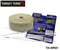 Wholesale Tansky Cool quot x10m Manifold Header Exhaust Thermal Heat Tape Wrap Roll exhaust pipe warp With STAINLESS TIES TK WR01