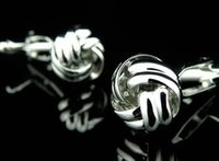 cufflink - designer silver metal knot cufflinks for mens high quality shirt cufflink men cuff links link cufflinks