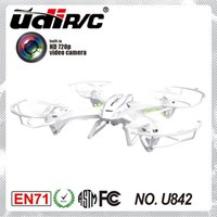 Wholesale UDI U842 RC helicopter camera HD Flip GHZ axis stabilization RC quadcopter Drone