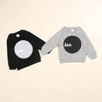 best brand sweaters - Hot in INS spring children raglan sleeve Sweater boys girls baby Hoodie Hoody kids tops cotton clothes black grey cm cm Best
