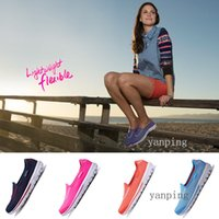 Wholesale 2015 the newest slip on air mesh skechers running shoes for women breathable women s gowalk Spring sport shoes