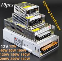 Wholesale 12V A A A A A A A A Led Transformer W W W W W W W W W W Power Supply For Led Modules Led Strips