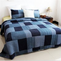 Wholesale 100 Cotton Bedspreads Queen Size Patchword Blanket Summer Quilts Pillow Shams Machin Washable Pastoral Style Three Patterns For Choosing