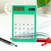 Wholesale Transparent Electronic Calculator Multi color Digit LCD Solar Calculator Touch Screen Counter Calculating