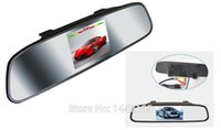 Wholesale The new inch rearview mirror car display input by an on board camera visual reversing radar