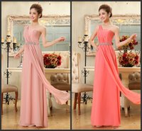Cheap In Stock Evening Dress 2015 Formal Cheap Under $50 Sexy Coral Red Purple Sage Prom Dresses Party Pageant Gowns Chiffon Long Crystal Vintage