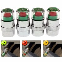 Wholesale 4pcs set Car Tyre Tire Pressure Indicator Monitor Valve Stem Cap Sensor Color Eye Alert Car Aaccessories