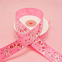 beer gift packs - mm Width yards Pink Color Beer Printed Ribbon Baby Showers Party Gift Boxes Packing Accessories