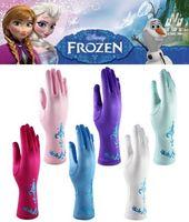 Wholesale 2015 Hot Costume Elsa Kid Gloves Frozen Gloves Princess Elsa Anna Gloves Colors Long Satin Gloves For Children Cosplay Golves