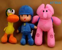 bandai games - 3PCS Retail Pocoyo Plush Toys inch Cartoon Figure Bandai Lovely Pocoyo Elly Pato Stuffed Animals Girls Holiday Gift