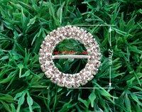diamante buckles - 50pcs Wedding Craft Buckles Diamante Rhinestone DIY Ribbon Slider Bridal Napkin Ring Buckle Invitation Supplies A02 mm inner