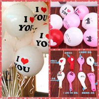 baby airline - 12 Inch g Latex I Love You Balloon For Valentine s Wedding Christmas Birthday Baby Shower Party Home Hotel Decoration Supplies
