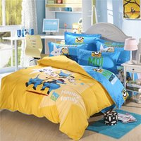 100% Cotton bedding shams - New Kids Bedding Set Minnions Bedding Steve Kids Bed Set Pieces Duvet Cover Pillow Shams