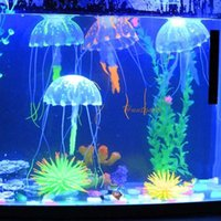 Wholesale New Charming Romantic Controlled Position Jellyfish Decoration Glowing Art Fish Light