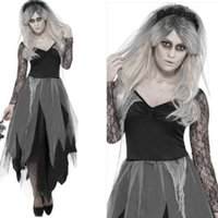 b vampire movies - Halloween Cosplay Vampire Bride Dark Ghost Zombie Clothes Masquerade Fun Size Women Uniforms B