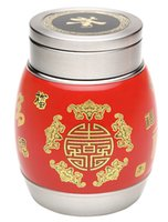 Wholesale Supply of tea tin canisters stainless steel vacuum preservation Caddy Caddy