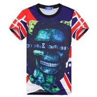 asia flags - Europe men s t shirt funny print flag skulls letters t shirt summer tops graphic tshirt tees slim style Asia size