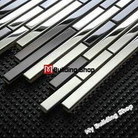 23x23mm; 48x48mm mosaic tile - Metal mosaic tiles backsplash SMMT059 stainless steel mosaics wall tiles home improvement mirror mosaic glass tiles