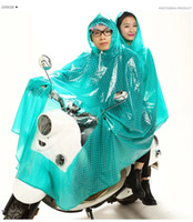 Wholesale Double raincoat free DHL corlor fashion traveling camping hiking thicken large adult poncho riding electric motorcycle double raincoat