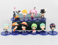 anime mini figures naruto - Cute Mini Anime Action Figure One piece Luffy Boa Nancock Hawkeye Ace Onepiece Model Toy set