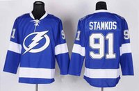 Wholesale Lightnings Steven Stamkos Hockey Jerseys Hockey Jackets Ice Hockey Apparel Uniform All Style Winter Hockey Wears New Arrival