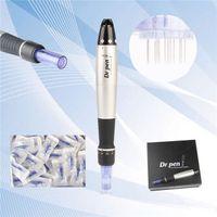 Wholesale New Dr Pen Derma Pen Auto Microneedle System Adjustable Needle Lengths mm mm Electric Derma Dr Pen Stamp Auto Micro Needle Roller
