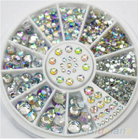 YSDS beauty tips women - 5 Sizes Nail Art Tips Crystal Glitter Rhinestone D Nail Art Decoration Wheel beauty accessory for women nails